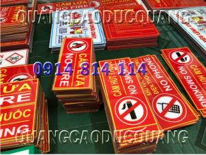 biển báo cấm lửa, cấm hút thuốc