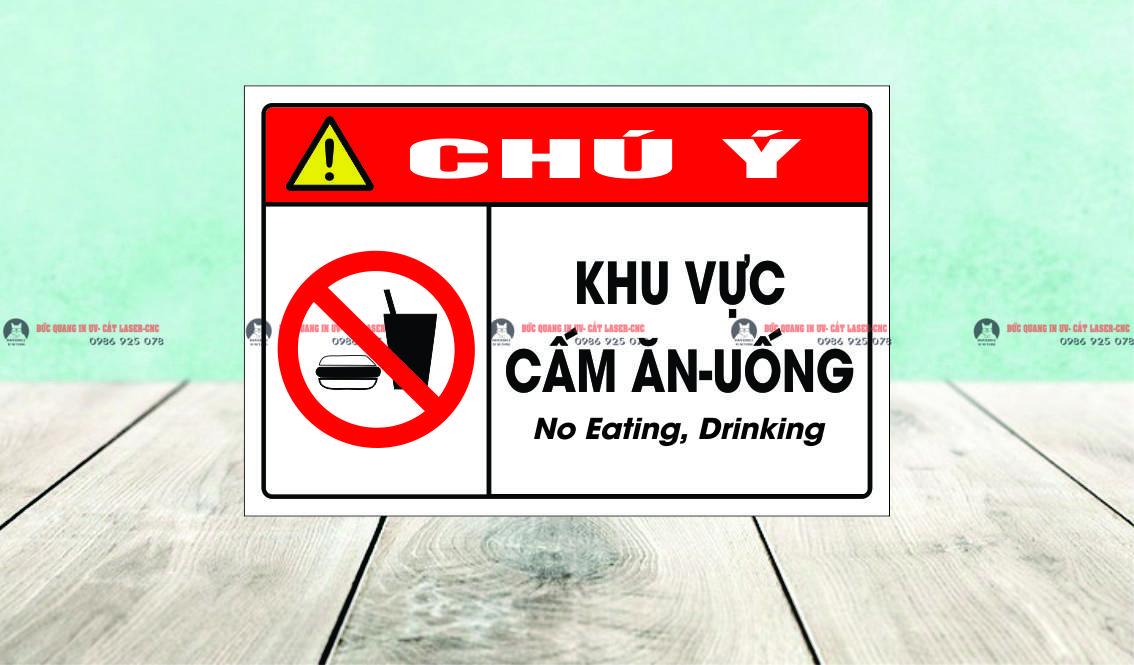 khu vực cấm ăn uống